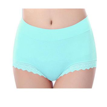 Women Briefs Modal Lace Seamless Underwear High Waist Cotton Knickers Female Ladies Girl Panties Solid Breathable Plus Size