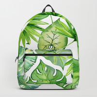 tropical leaves Backpack by sylviacookphotography