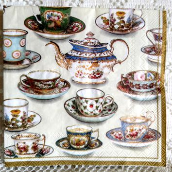 Five O'Clock Tea Lunch Napkins - 20 Count - Limited Supply!