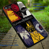 Game of Thrones Houses Symbol Collage iPhone 6s 6 6s+ 5c 5s Cases Samsung Galaxy s5 s6 Edge+ NOTE 5 4 3 #movie #gameofthrones dt
