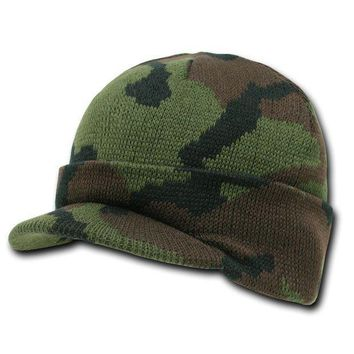 Rapid Dominance Camouflage Jeep Caps/visor Beanies (woodland Camo One Size)
