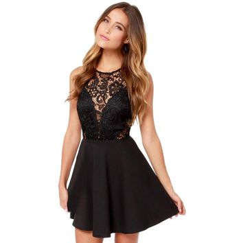 396fa6e4c9f0 Women Summer Casual Backless Prom Cocktail Lace Short Mini Dres