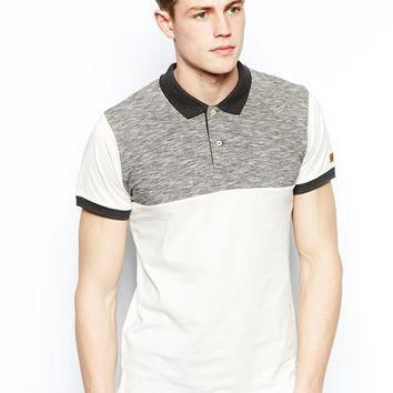 Jack & Jones Polo Shirt With Space Dye Yoke