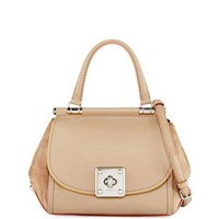 Coach Drifter Mixed Leather Top-Handle Bag   Neiman Marcus