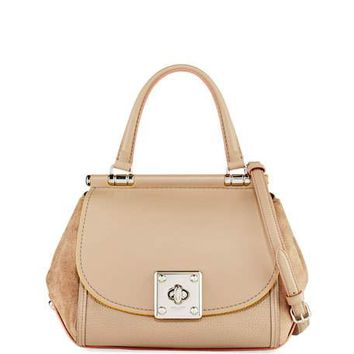 Coach Drifter Mixed Leather Top-Handle Bag | Neiman Marcus