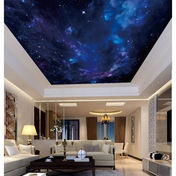 Custom photo wallpaper 3d ceiling wall paper Dream night sky ceiling mural wallpapers for living room painting decoration