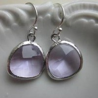 Lavender Earrings Silver - Sterling.. on Luulla