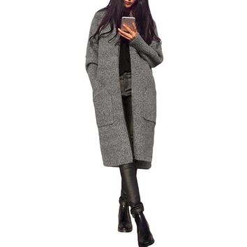 Women's Trench Coat Style Cardigan Sweater