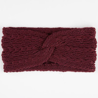 Twist Headwrap Burgundy One Size For Women 24517632001