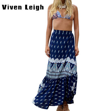 2016 Boho Fashion Summer Women Bohemian Hot Sexy Skirt Long Maxi Wrap Skirts For Lady
