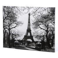 Oriental Furniture Eiffel Tower Park Photographic Print on Canvas