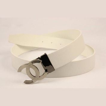 DCCKHI2Perfect CHANEL Woman Fashion Smooth Buckle Belt Leather Belt