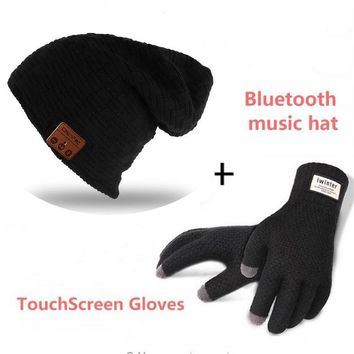 Bluetooth Beanie Smart Winter Knit Music Hat  Wireless Headphones Earphones Unique Christmas Tech Gifts for Teen Young Boy Girl