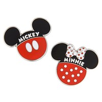 Disney Parks Mickey and Minnie Icon Pin Set New with Card