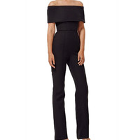 Abby Black Off The Shoulder Jumpsuit
