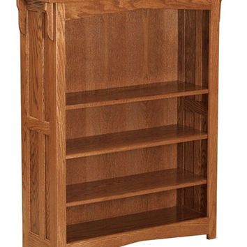 Amish Mission 4' OPEN BOOKCASE AM 194
