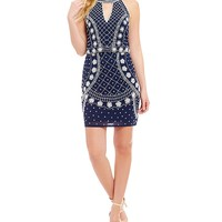 Gianni Bini Renee Floral Beaded Popover Dress | Dillards