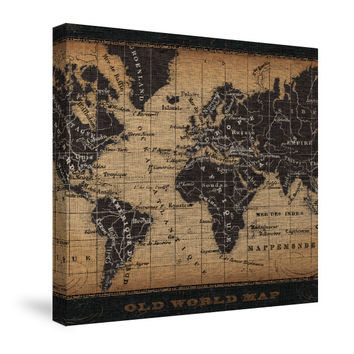 Old World Map Canvas Wall Art
