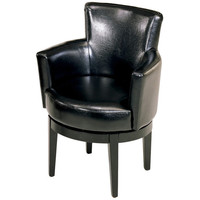 Swivel Leather Chair by Armen Living- Best leather