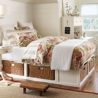 Stratton Bed with Baskets Bed & Dresser Set