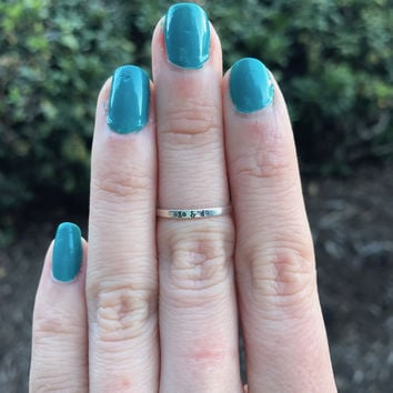 Go & Do Stacking Ring - Ready to Ship - Size 4.75