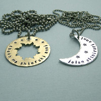 His and Hers Dothraki Khal/Khaleesi Necklaces  by MadamePoindextra