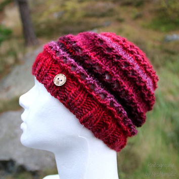 Handknit beanie hat, warm and beautiful beanie, perfect holoday gift for her, autumn fashion