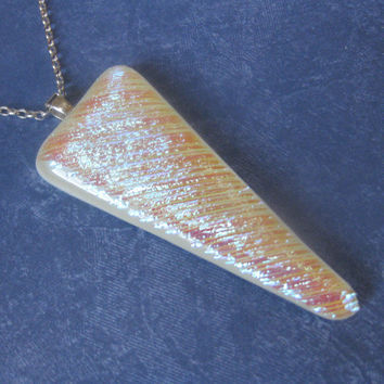 Sparkly Dichroic Necklace Fused Glass Necklace by mysassyglass