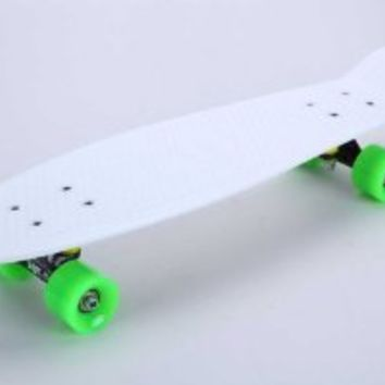"""Tiger Boards Complete 27"""" Long Skateboard (27"""" x 7.5"""") (White)"""