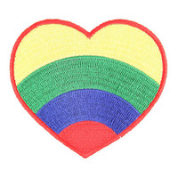 Retro Rainbow Heart Patch