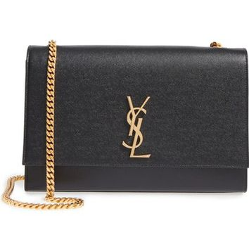 Saint Laurent Large Kate Monogram Leather Shoulder Bag | Nordstrom