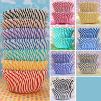 Mini Candy Stripe Baking Cup Stack