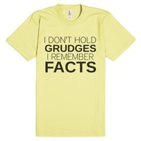 I Don't Hold Grudges-Unisex Lemon T-Shirt
