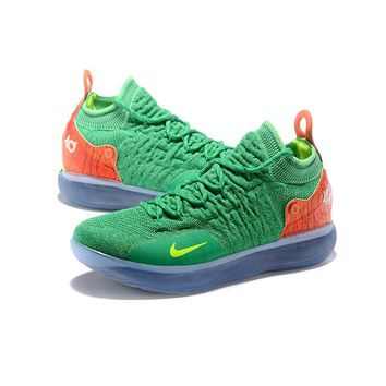 Nike Zoom KD 11 Green Orange - Best Deal Online