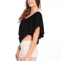 Surf Gypsy by Vintage Havana Flowy Crop Top
