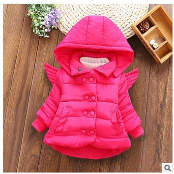 heat! 2017 new baby autumn and winter coat girl dress princess clothing 100% cotton wool children 1-2 years free shipping
