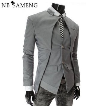 Brand Designer Fashion Mens Suit Jacket England Style Slim Fit Blazer Coats Tuxedo Business Men Suits