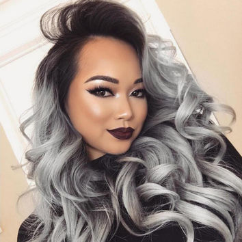 Weave ombre gray hair