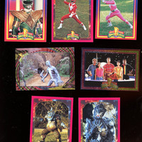 Power Rangers 1994 Saban series 2 card lot of 7 cards vintage free shipping