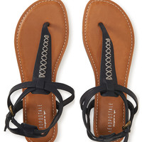 Aeropostale  Stitched Accent T-Strap Sandal