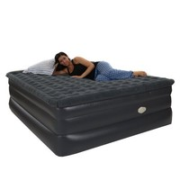 Smart Air Beds King Raised Pillowtop Air Bed with Remote Control, Gray