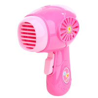 Kids Pretend Play Toy Mini Electric Hair Dryer Kids Children Simulation Play House Toy for Girl Pink