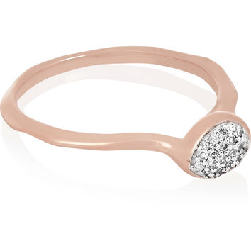 Monica Vinader - Siren rose gold-plated diamond ring