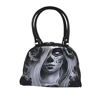 Liquor Brand Love Sugar Skull Lady Tattoo Art Bowling Bag Purse Handbag
