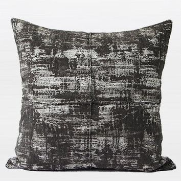 """Charcoal Mix Color Metallic Chenille Pillow  22""""X22"""""""