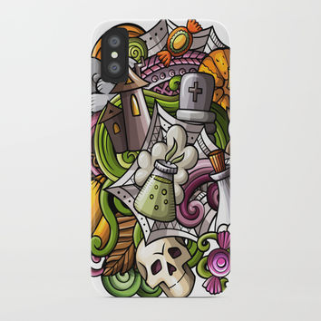 Halloween sticker 2 iPhone Case by Printerium