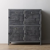 Vintage Locker 4-Door Cabinet
