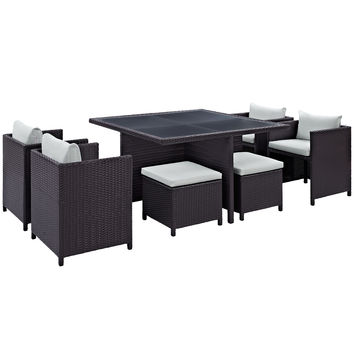Inverse 9 Piece Outdoor Patio Dining Set