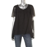 NY Collection Womens Textured 2-in-1 Blouse