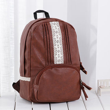 College Comfort Stylish Back To School On Sale Hot Deal Lace Casual Backpack [6451243076]
